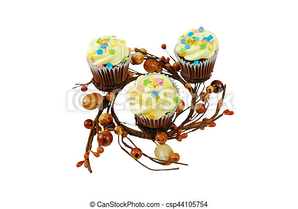 Spring Cupcakes - csp44105754