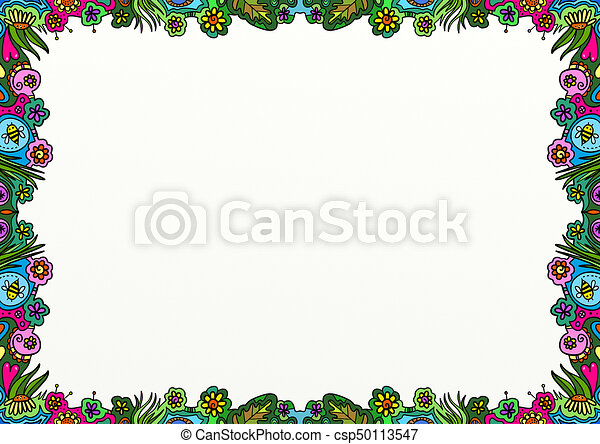 spring doodle page border decoration a hand drawn nature bee clipart png bees clipart pictures