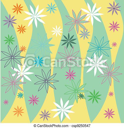 Spring floral background - csp9250547