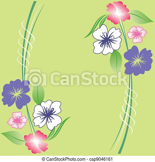 Spring floral background - csp9046161
