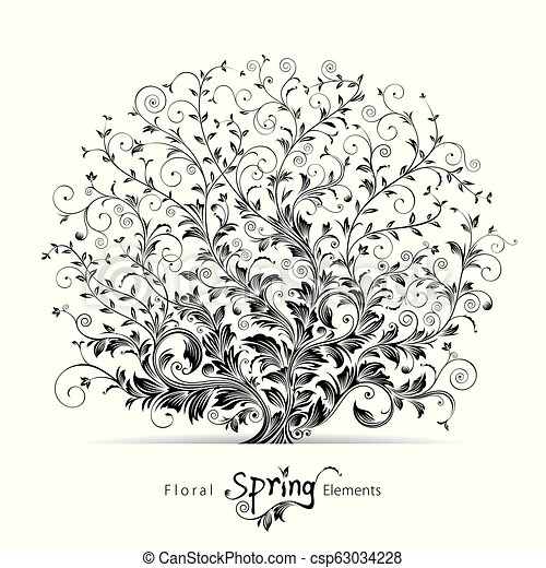 Spring Floral Elements - csp63034228