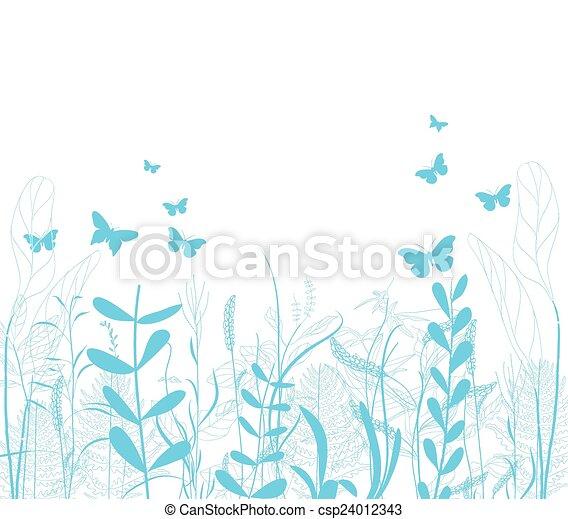 spring florals background - csp24012343