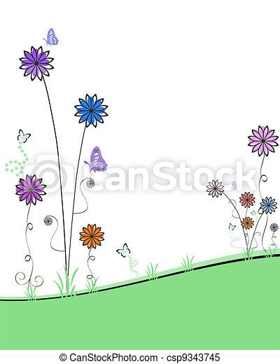 Spring Florals - csp9343745