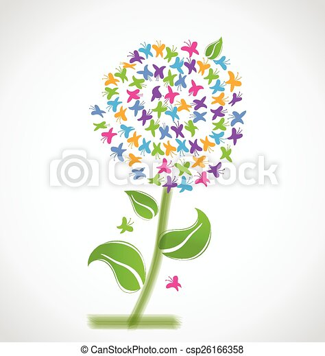 Spring flower of butterflies logo spring flower of clipart spring flower of butterflies logo csp26166358 mightylinksfo