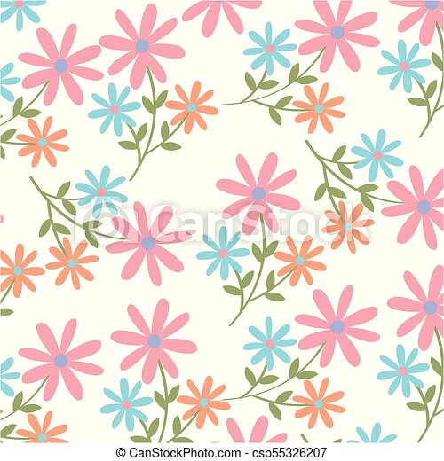 Spring Flowers Background Image Vector Illustration Design