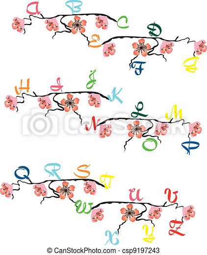 Spring flowers - csp9197243