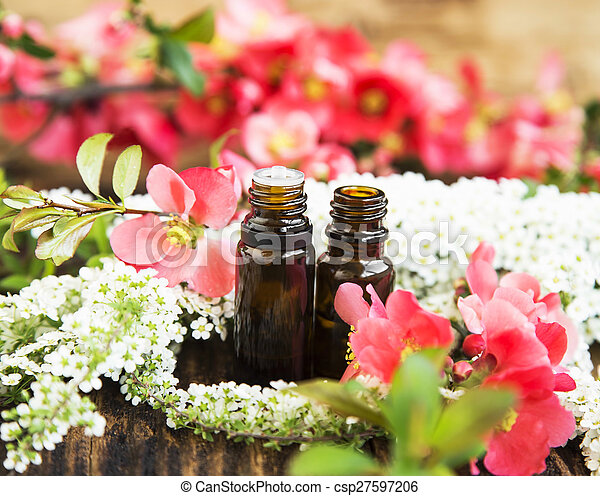 Spring flowers essence bottles spring pink and white flowers spring flowers essence bottles csp27597206 mightylinksfo