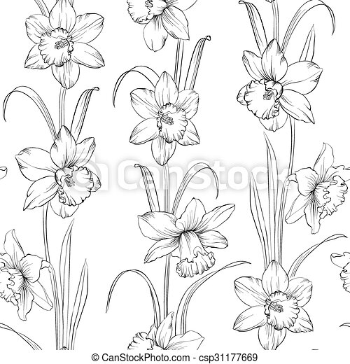 Spring Flowers Fabric Seamless Pattern Vector Illustration