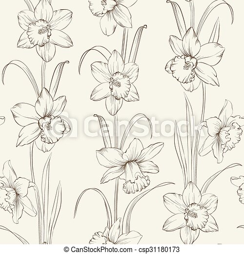 Spring Flowers Fabric Seamless Pattern On Gray Background Vector