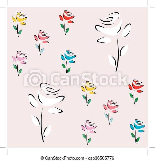 spring flower's, - csp36505776