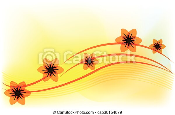 Spring flowers template - csp30154879