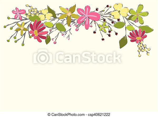 Spring flowers vector background illustration design vector spring flowers vector background mightylinksfo Gallery