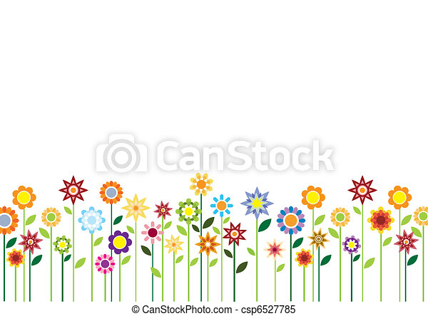 Spring flowers vector  - csp6527785