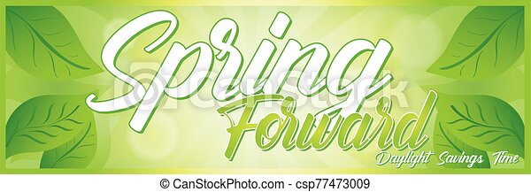 Spring Forward Banner - csp77473009