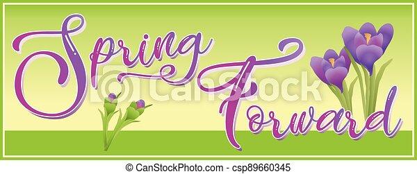Spring Forward Daylight Savings Time Graphic - csp89660345
