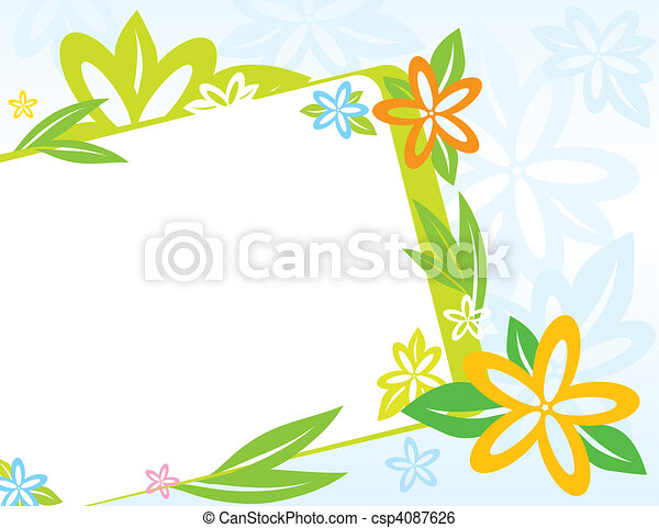 spring frame with flowers vector frame with spring flowers clip rh canstockphoto com spring vector free download sprint vector vr
