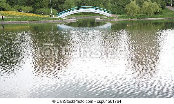 spring in city park - csp64561764