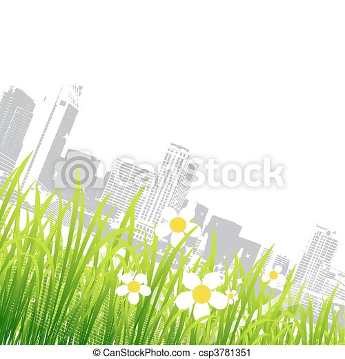 Spring in the city, flowers - csp3781351