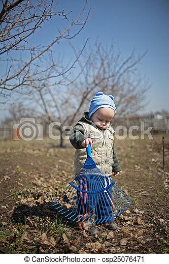 spring in the garden for children - csp25076471