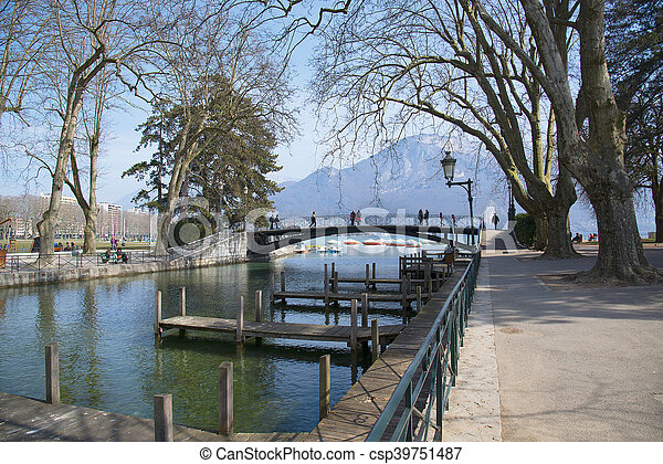 Spring Lake Annecy, France. - csp39751487