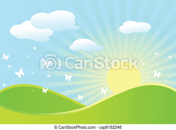 Spring landscape - csp6182248