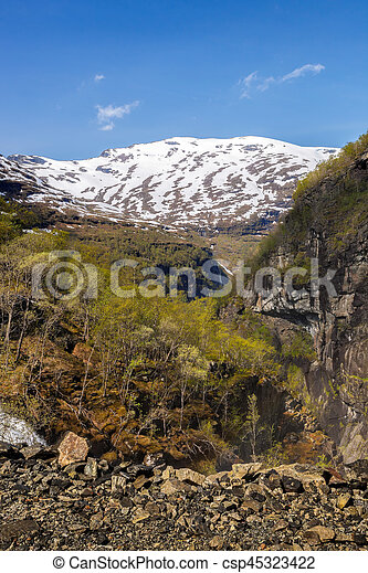 Spring landscape in Norway - csp45323422