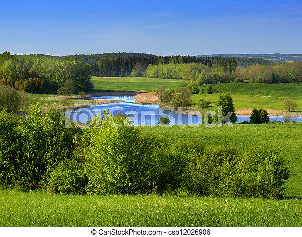 spring landscape - csp12026906