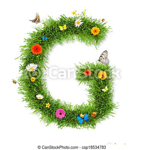 spring letter g csp18534783