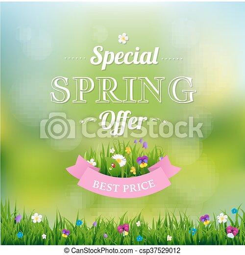 Spring Offer Banner - csp37529012