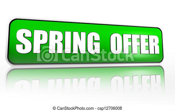 spring offer green banner - csp12706008