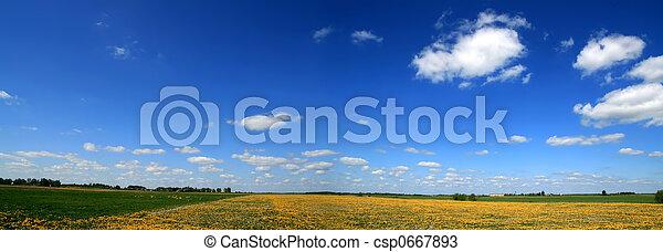 Spring panorama 1 - csp0667893
