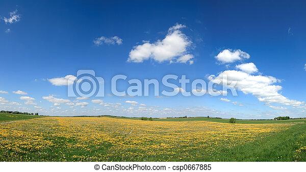 Spring panorama 2 - csp0667885