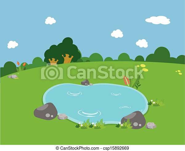 spring pond rh canstockphoto com clipart pond animals clip art pound class