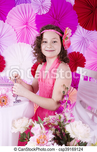 Spring portrait - csp39169124