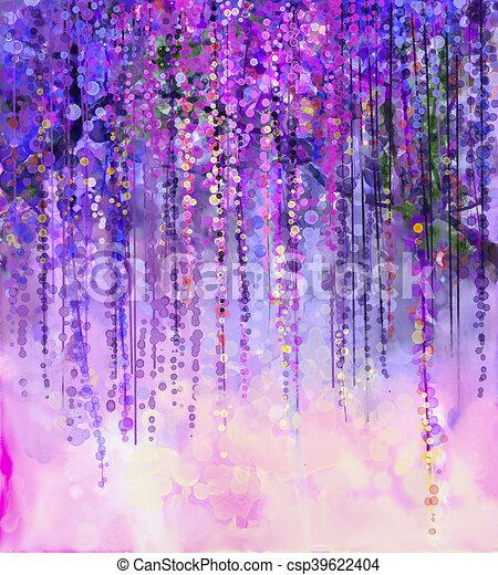 Spring purple flowers wisteriawatercolor painting abstract violet spring purple flowers wisteriawatercolor painting csp39622404 mightylinksfo