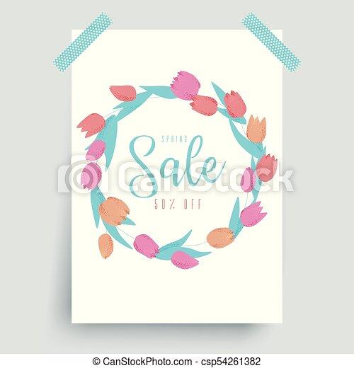 Spring sale flowers - csp54261382
