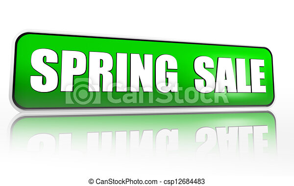 spring sale green banner - csp12684483