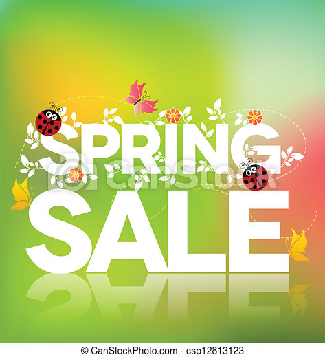 Spring sale poster  - csp12813123