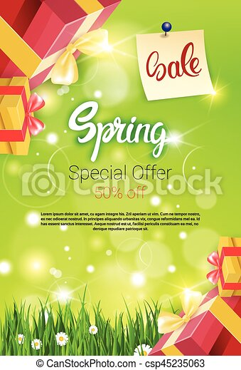 71cb60aae19 Spring sale shopping special offer holiday banner flat vector ...