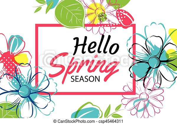 spring season banner template background with colorful vector rh canstockphoto com coupon clip art template coupon clipart free