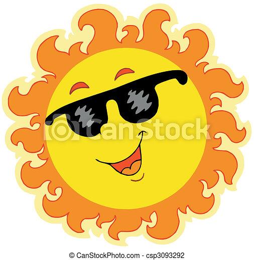 Spring Sun with sunglasses - csp3093292