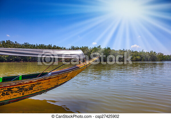 Spring trip to native boat Longtail - csp27425902