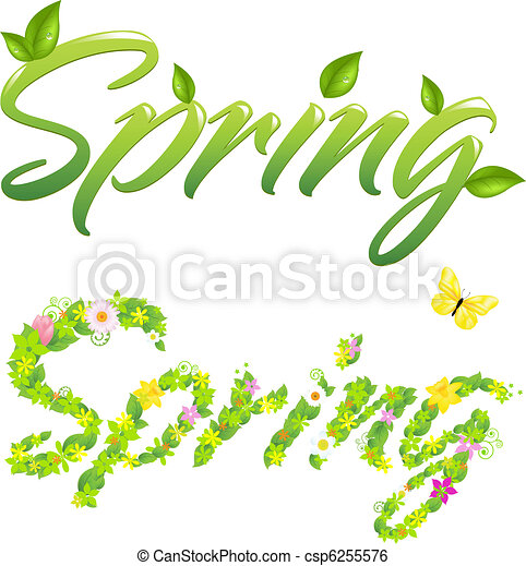 Spring Words - csp6255576