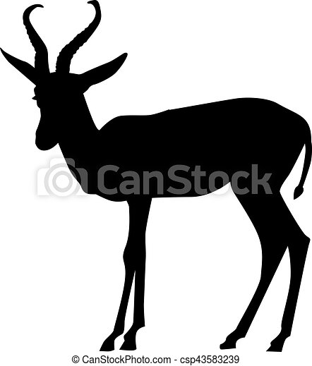 springbok silhouette vectors search clip art illustration rh canstockphoto com silhouette vector images silhouette vectors free