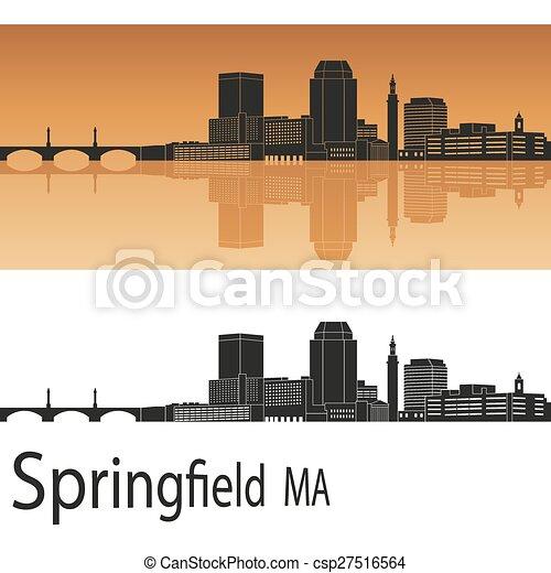 Springfield MA skyline - csp27516564