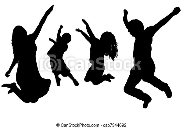 springt, gezin - csp7344692