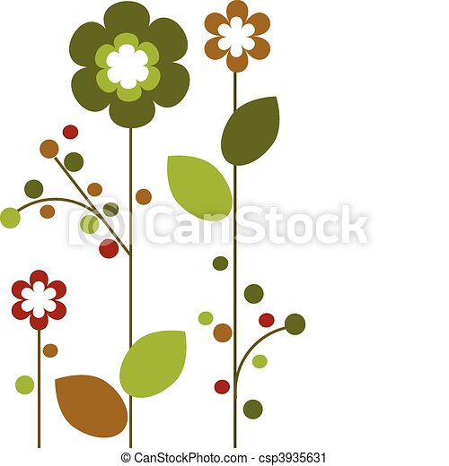 Springtime colorful flowers bloom, abstract design -2 - csp3935631