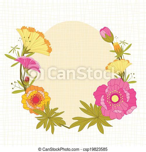 springtime, flor, coloridos, fundo - csp19823585