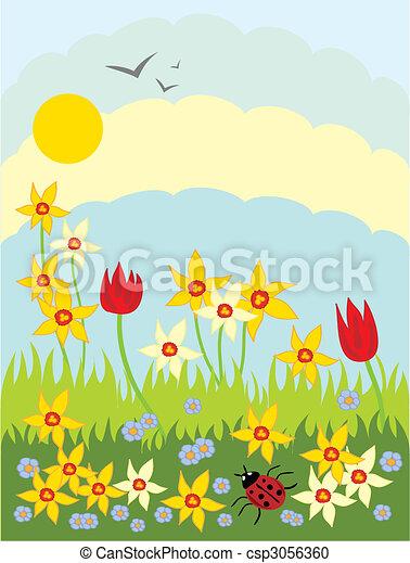 springtime flowers - csp3056360
