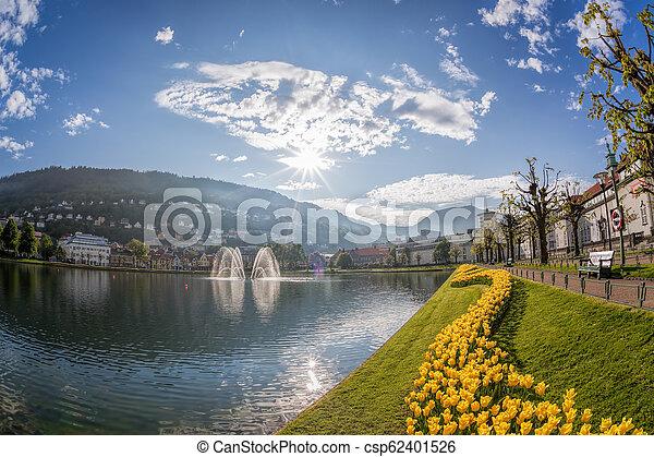 Springtime in Bergen, Norway - csp62401526